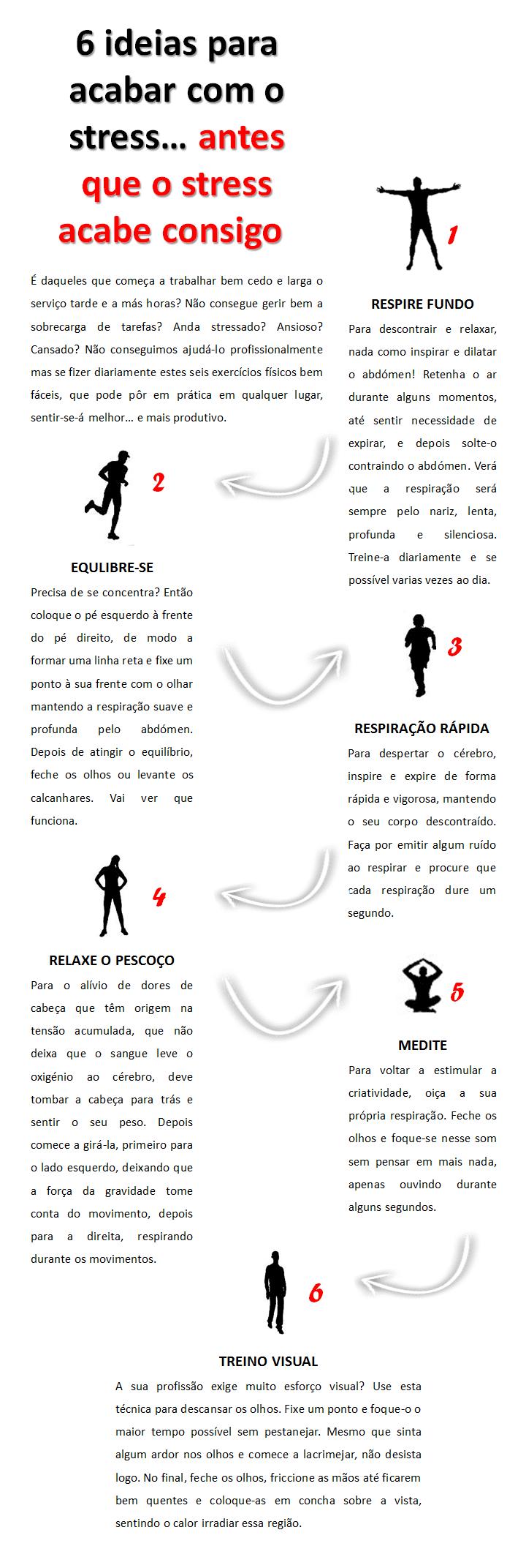 infografia - como acabar com o stess antes que ele acabe consigo