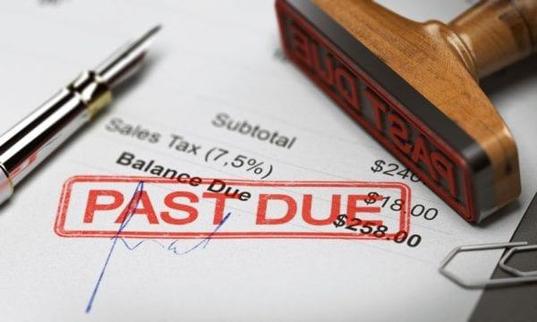 cobrar pagamentos atraso